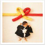 「出産祝い」「内祝い」赤ちゃんの写真が熨斗に!?タオルギフト『お祝い』