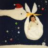 【クリスマス限定デザイン】寝相アート®「サンタこうのとり」(2019.11.28)