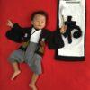 【年賀状限定デザイン】寝相アート®「かきぞめ『ね』」(2019.12.08)