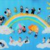 寝相アート®「虹のかけはし」(2015.6.21)