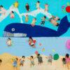 寝相アート®夏「クジラの噴水」(2015.8.15)