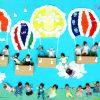 巨大寝相アート「気球」