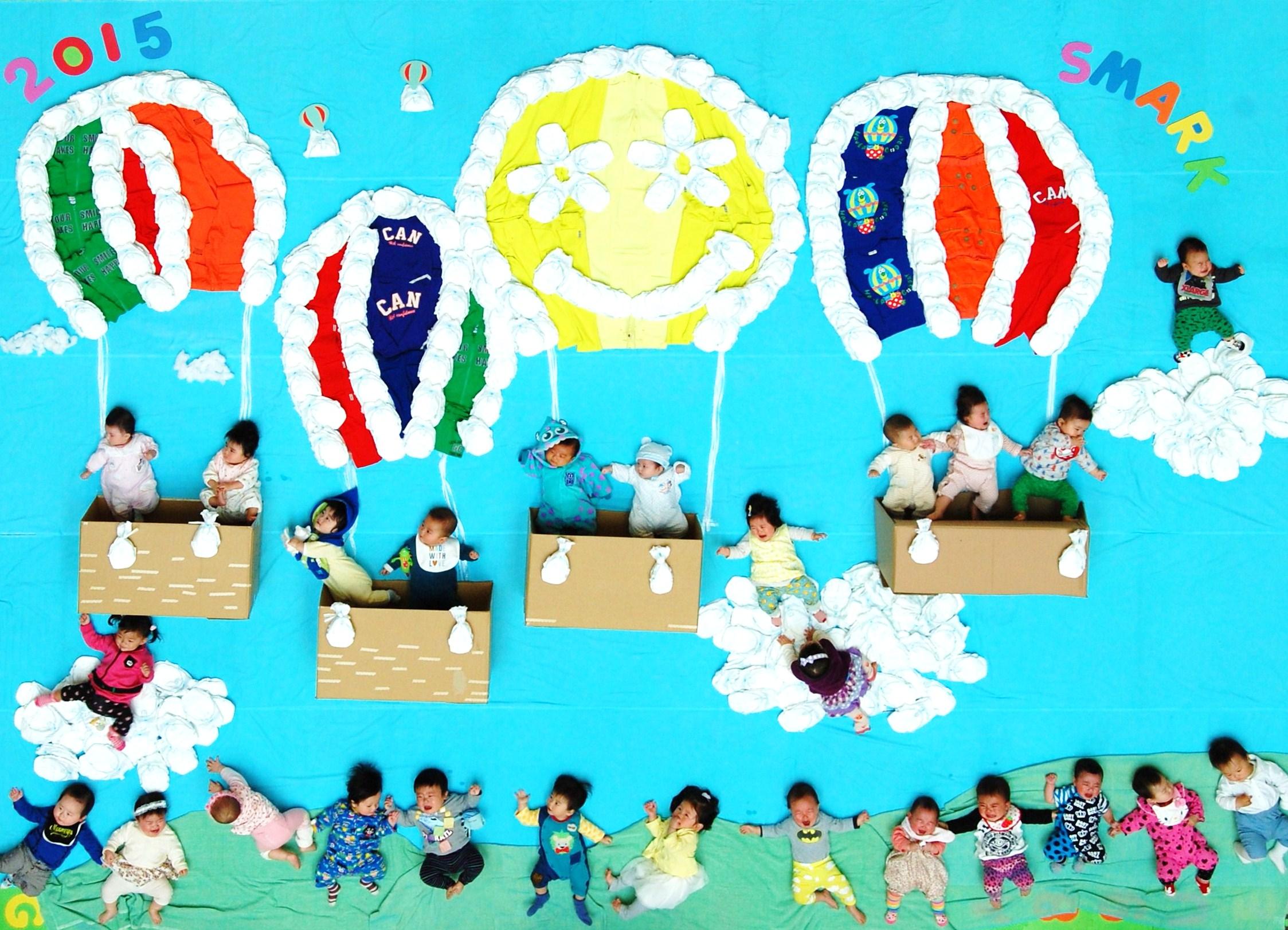 2015.4.4SMARK巨大寝相アート気球1