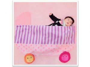 寝相アート,ギフト,タオル美術館,出産祝い,内祝,記念日,ベビーカー,ピンク