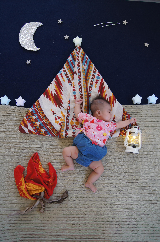 寝相アート,キャンプ