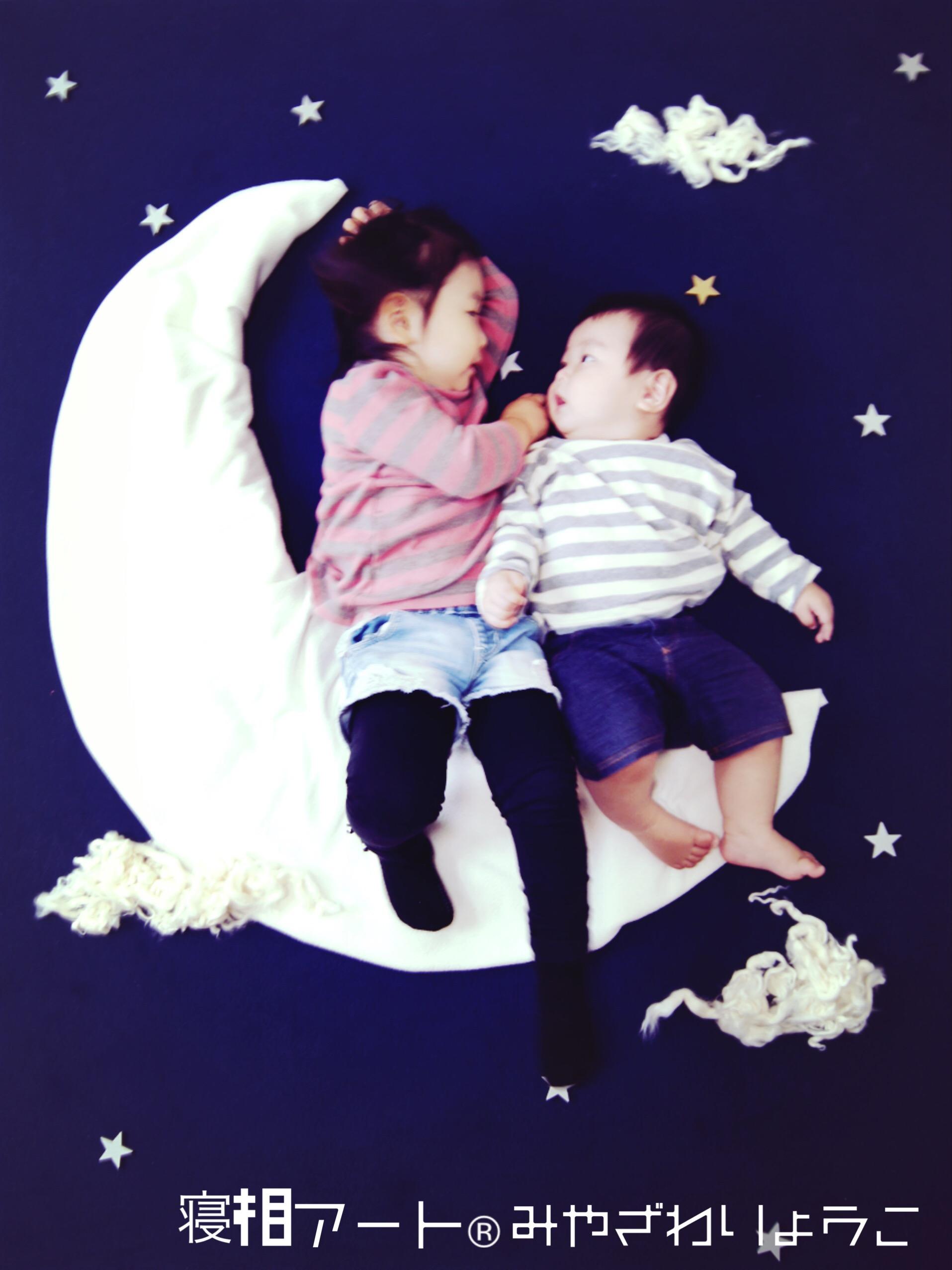 寝相アート,お月見,コンチネンタル,