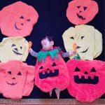 ハロウィンかぼちゃ寝相アートinはなまるハウス TBS伊勢崎