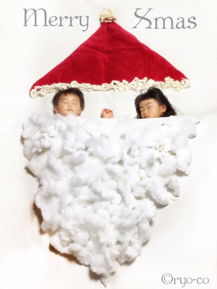寝相アート,サンタ,クリスマス